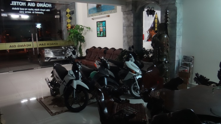 The lobby of the hotel. Always where the scooters are parked!