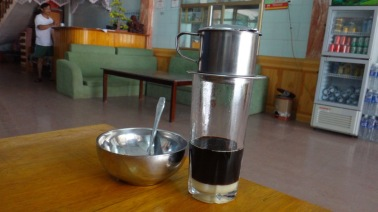 Traditional Vietnamese drip coffee