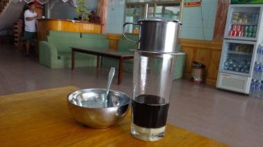 Traditional Vietnamese drip coffee
