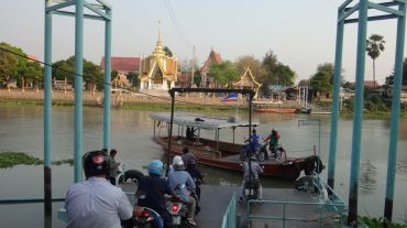 Ferry for motorbikes and our bicycles